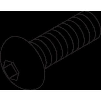 10-32 x 1/2'' BHSCS & Std T-Nut