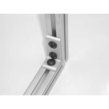 10 S / 25 S 3 Hole Slotted Corner Bracket