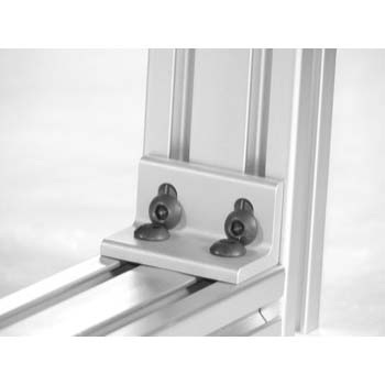 10 S / 25 S 4 Hole Slotted Corner Bracket