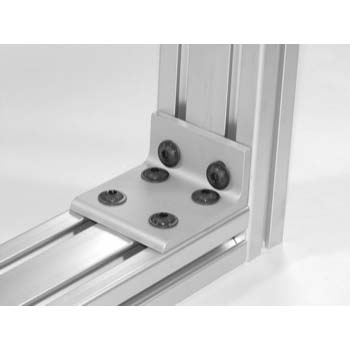 15 S 6 Hole Slotted Inside Corner Bracket