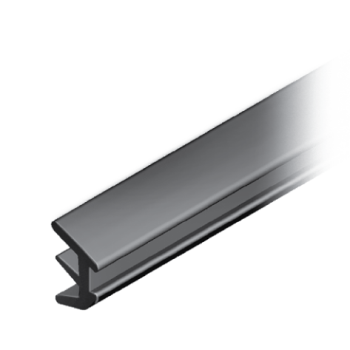 Plug-in profile, TPE, slot 8/ 10, for panel 2-4mm/ 4-6mm, black