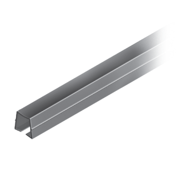 Cover and Reduction Profile, PP + TPE, slot 10, black