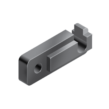 Roller mounting block, nylon, profile 30 and up, slot 8/ 10