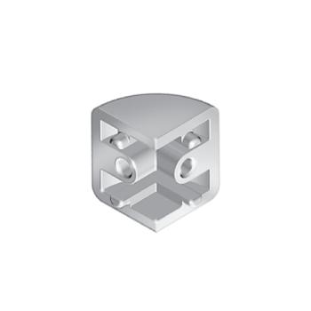 Corner connection for glass panel clamp, die-cast zinc