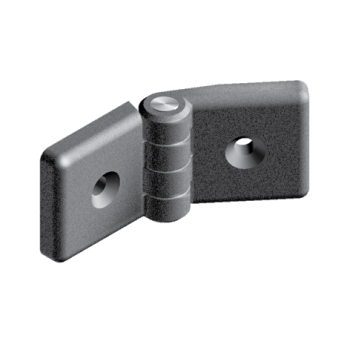 Heavy-duty plastic hinge 45, non-detachable, slot 10 AluFab