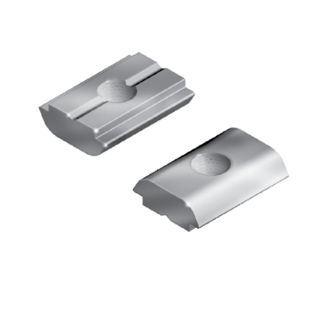 Self-Aligning Roll-in T-Slot Nut, M8