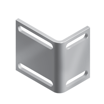 Angle bracket for ball catch, steel zinc plated