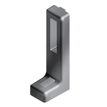 Floor bracket 120x45x30, slot 8, die-cast zinc, black powder coated, in height adjustable