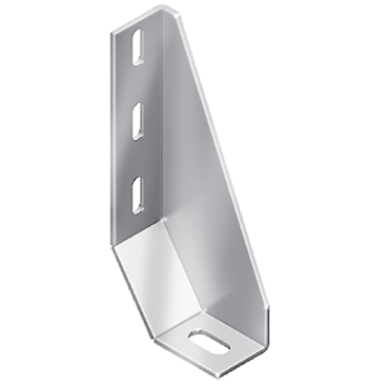 Floor bracket, 87x200x42, steel, profile 45 and up