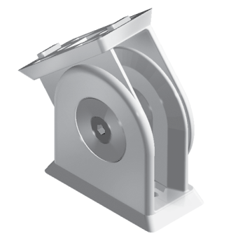 Pivot Joint 45 x 90, with slot fixation for slot 8/10, die-cast zinc, alu colour lacquered