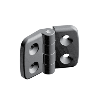 Plastic hinge 20, non-detachable, Steel Bolt