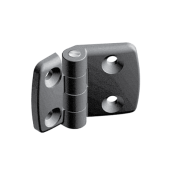 Plastic combi hinge 30x30, with slot 8, non-detachable AluFab