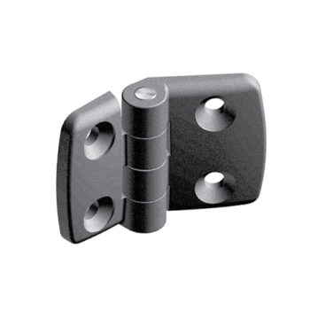 Plastic combi hinge 40x40 with slot 10, non-detachable