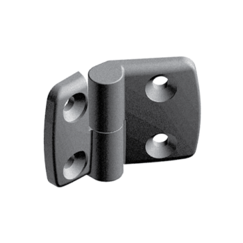 Plastic combi hinge 40x40 with slot 10, left, detachable