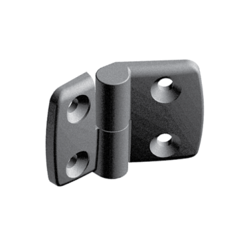 Plastic combi hinge 40x40 with slot 10, right, detachable