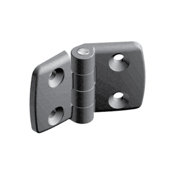 Plastic combi hinge 45x45 with slot 10, non-detachable