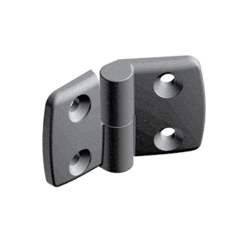 Plastic combi hinge 45x45 with slot 10, right, detachable