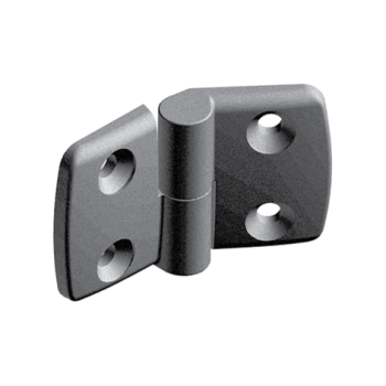 Plastic combi hinge 50x50 with slot 10, right, detachable