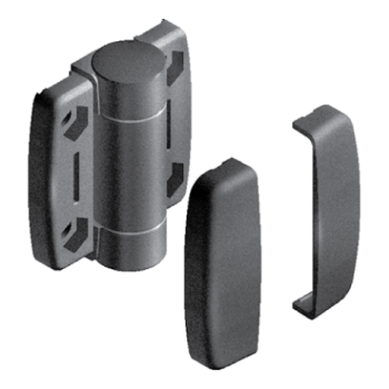 System hinge with positioning function 30.30, slot 8, plastic, dim.A1/A2 22,75mm, A3=36mm, with screw covering