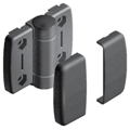 System hinge with positioning function 40.40, slot 10, plastic, dim.A1/A2 22,75mm, A3=36mm,with screw covering