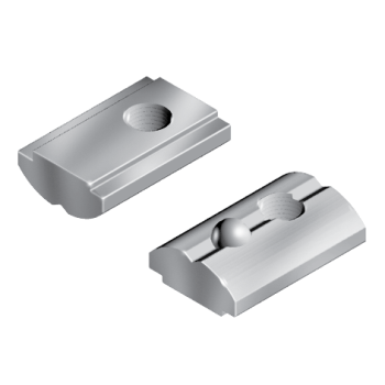 Self-Aligning Roll-in T-Slot Nut 14,5 x 6,2 mm, M5, with spring ball, stainless steel