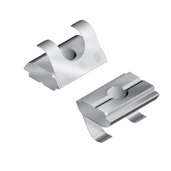 Roll-in T-slot Nut stepped 10, M6, 14x5,2, shaft 9,9x1,5, l=19mm, with spring-leaf