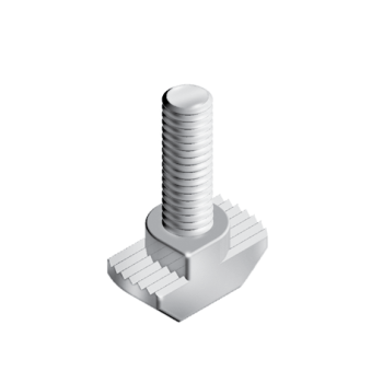 Hammer Screw M6x20mm, slot 10, hight 3mm, steel