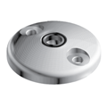 Base for swivel feet, D100, Stainless Steel, with Bolt-down Holes