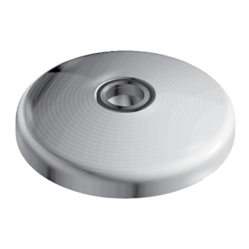 Extended base for swivel feet, D80 with anti-slip plate, die-cast zinc, black