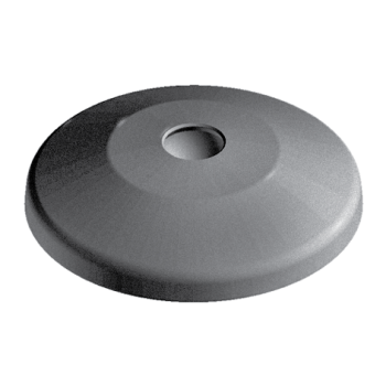 Base for swivel feet, D80 with anti-slip plate, nylon, without Bolt-down Holes
