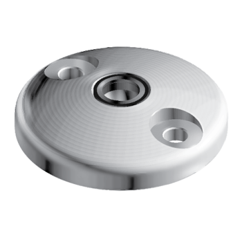 Base for swivel feet, D100 with anti-slip plate, Stainless Steel, with Bolt-down Holes