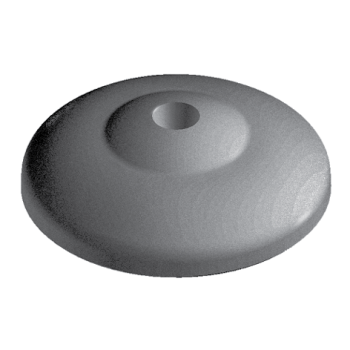 Base for ECO feet, D40 with anti-slip plate, nylon