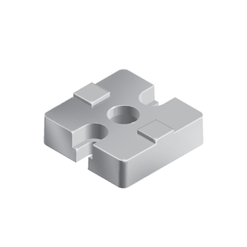 Plate connector, aluminum color