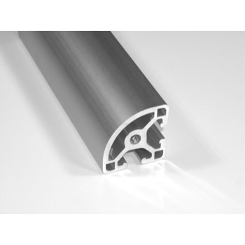 "1.5"" x 1.5"" Quarter Round T-Slotted Aluminum Framing Extrusion"